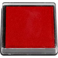 Leimasintyyny, koko 40x40 mm, punainen, 1 kpl