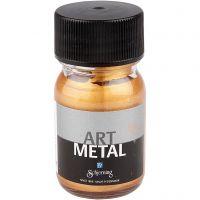 Askartelumaali metallic, medium kulta, 30 ml/ 1 pll