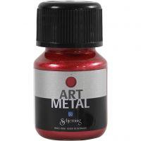 Askartelumaali metallic, Laavan punainen, 30 ml/ 1 pll