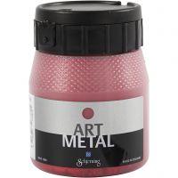 Askartelumaali metallic, Laavan punainen, 250 ml/ 1 pll