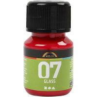 A-Color Lasimaali, punainen, 30 ml/ 1 pll