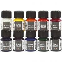 Glass Color Transparent lasimaalilajitelma, värilajitelma, 10x30 ml/ 1 pkk