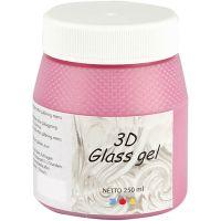3D lasigeeli, pinkki, 250 ml/ 1 tb