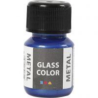 Glas Color Metal lasimaali, sininen, 30 ml/ 1 pll