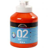 Koulu readymix-maali matta, matt, oranssi, 500 ml/ 1 pll