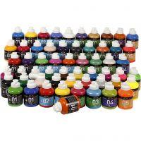 A-Color akryylimaali, värilajitelma, 57x500 ml/ 1 pkk