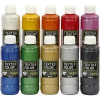 Textile Color Pearl, helmiäinen, värilajitelma, 10x250 ml/ 1 pkk