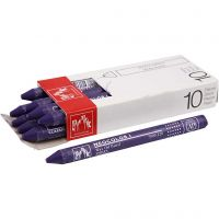 Neocolor 1, Pit. 10 cm, paksuus 8 mm, violet (120), 10 kpl/ 1 pkk
