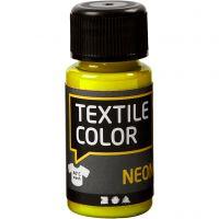 Textile Color, neonkeltainen, 50 ml/ 1 pll