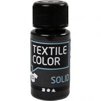Textile Color Solid, peittävä, musta, 50 ml/ 1 pll
