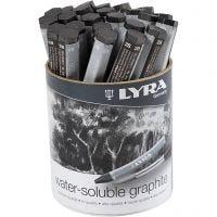 Lyra-akvarelligrafiittiliidut, Pit. 6,5 cm, 24 kpl/ 1 pkk