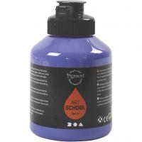 Pigment Art School, läpikuulto, violet blue, 500 ml/ 1 pll