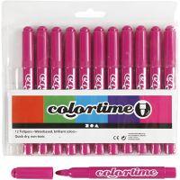 Colortime-tussit, paksuus 5 mm, rosa, 12 kpl/ 1 pkk