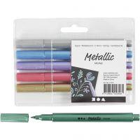 Metallic tussit, paksuus 2-4 mm, metallic-värit, 6 kpl/ 1 pkk