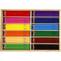Värikynät, kärki 5 mm, JUMBO, värilajitelma, 144 kpl/ 1 pkk