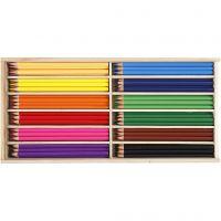 Värikynät, kärki 3 mm, värilajitelma, 144 kpl/ 1 pkk