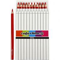 Colortime-värikynät, Pit. 17,45 cm, kärki 5 mm, JUMBO, punainen, 12 kpl/ 1 pkk