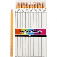 Colortime-värikynät, Pit. 17,45 cm, kärki 5 mm, JUMBO, vaalea puuteri, 12 kpl/ 1 pkk