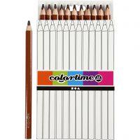 Colortime-värikynät, Pit. 17,45 cm, kärki 5 mm, JUMBO, ruskea, 12 kpl/ 1 pkk