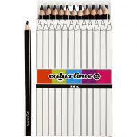 Colortime-värikynät, Pit. 17,45 cm, kärki 5 mm, JUMBO, musta, 12 kpl/ 1 pkk