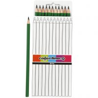Colortime-värikynät, Pit. 17 cm, kärki 3 mm, vihreä, 12 kpl/ 1 pkk