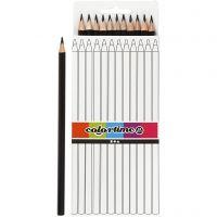 Colortime-värikynät, Pit. 17 cm, kärki 3 mm, musta, 12 kpl/ 1 pkk