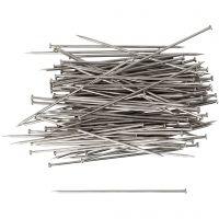 Somistusneulat, Pit. 34 mm, paksuus 0,6 mm, hopea, 50 g/ 1 pkk