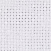 Aida-kangas, koko 50x50 cm, 43 ruutua per 10 cm, valkoinen, 1 kpl