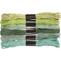 Kirjontalankalajitelma, paksuus 1 mm, glitter vihreä, 6 kerä/ 1 pkk