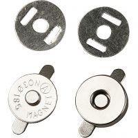 Magneettilukot, halk. 18 mm, 4 kpl/ 1 pkk
