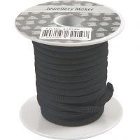 Makraményöri, paksuus 4 mm, musta, 5 m/ 1 rll