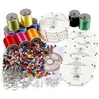 Kumihimo-setti, neonvärit, vahvat värit, 1 set