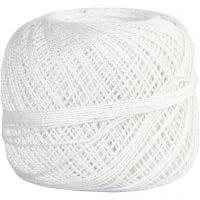 Puuvillalanka, valkoinen, 20 g/ 1 kerä