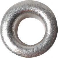 Reikäniitti, Kork. 3 mm, halk. 8 mm, aukon koko 4,8 mm, hopea, 50 kpl/ 1 pkk