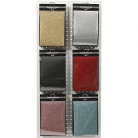 Silityskalvo, 148x210 mm, kimalle, värilajitelma, 6x10 ark/ 1 pkk