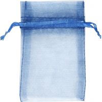 Organzapussit, koko 7x10 cm, sininen, 10 kpl/ 1 pkk