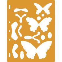 Muotosabloni, perhoset, 1 kpl
