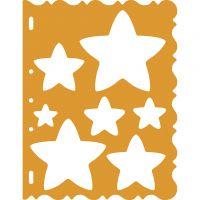 Muotosabloni, tähdet, 21x28 cm, 1 kpl