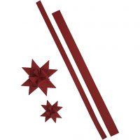 Paperitähtisuikaleet, Pit. 44+78 cm, Lev: 15+25 mm, 350 g, punainen, 24 suikaleet/ 1 pkk