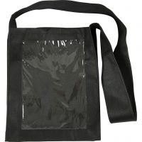 Muovitaskukassi, koko 40x34x8 cm, musta, 1 kpl