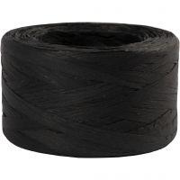 Raffia- paperinaru, Lev: 7-8 mm, musta, 100 m/ 1 rll