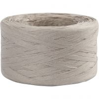 Raffia- paperinaru, Lev: 7-8 mm, vaaleanharmaa, 100 m/ 1 rll