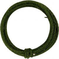 Juuttinaru, paksuus 2-4 mm, vihreä, 3 m/ 1 pkk