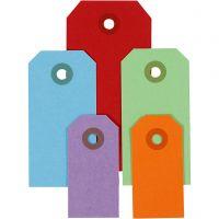 Pakettietiketit, koko 3x6+4x8+5x10 cm, 220 g, värilajitelma, 500 kpl/ 1 pkk