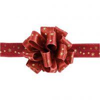 Susifix-nauha, Lev: 18 mm, kulta, punainen, 5 m/ 1 rll