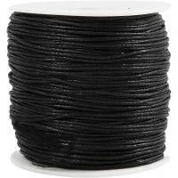 Puuvillanyöri, paksuus 0,6 mm, musta, 100 m/ 1 pkk