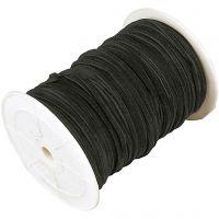Mokkajäljitelmänyöri, paksuus 3 mm, musta, 100 m/ 1 rll