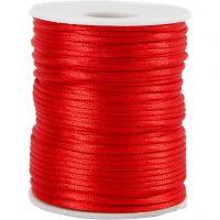 Satiininyöri, paksuus 2 mm, punainen, 50 m/ 1 rll