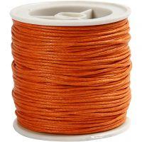 Puuvillanyöri, paksuus 1 mm, oranssi, 40 m/ 1 rll