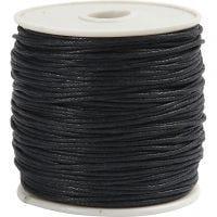 Puuvillanyöri, paksuus 1 mm, musta, 40 m/ 1 rll